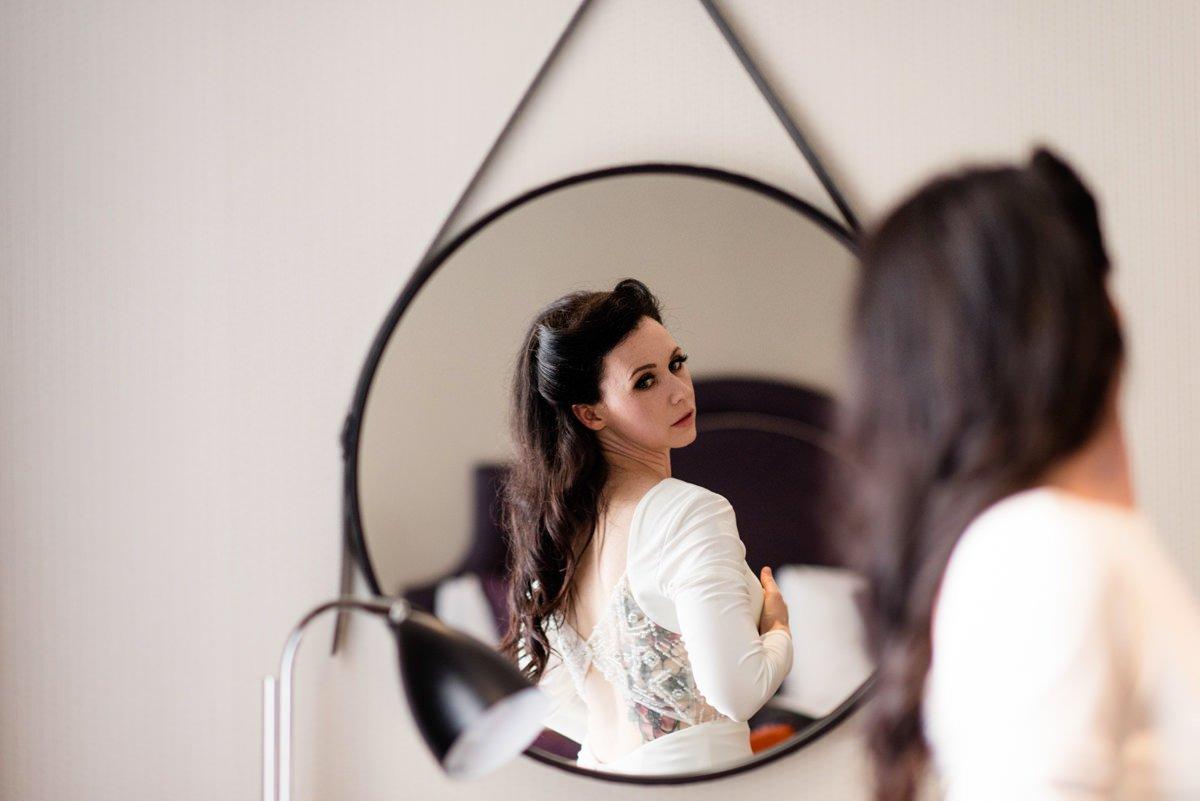 Alternative wedding photographer rockabilly bride