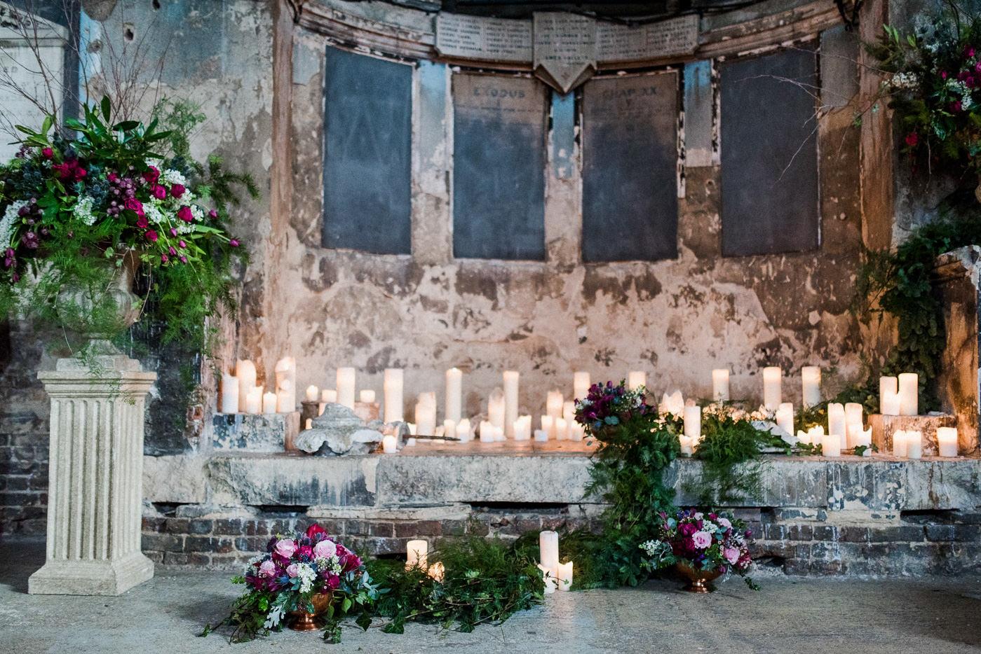 Asylum Chapel wedding photography  quirky rustic London