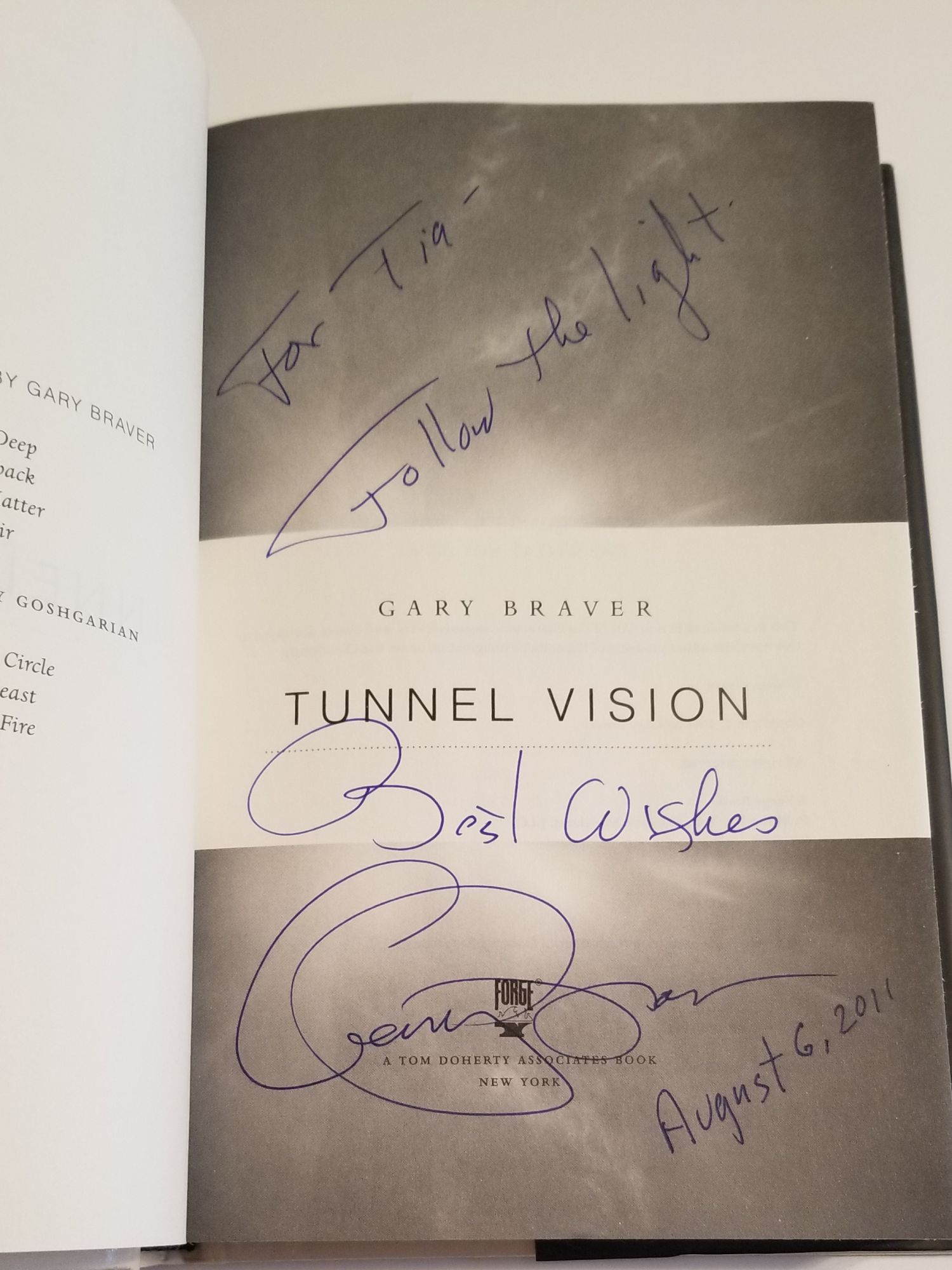 hight resolution of image 2 of 2 for tunnel vision