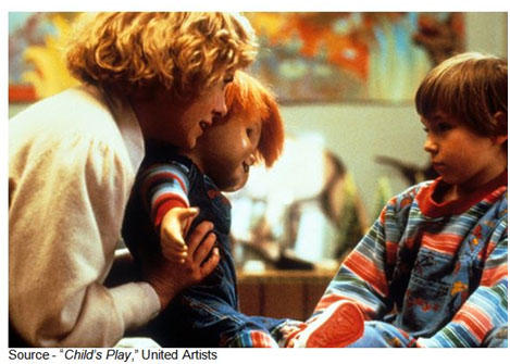 """Look, you stay here; I have to go tinkle"" – Andy, ""Child's Play,"" United Artists, 1988"