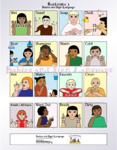 Baby sign language bathtime signs poster also bath chart teach your to rh babies and