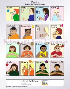 Baby sign language food signs poster also chart teach your to rh babies and