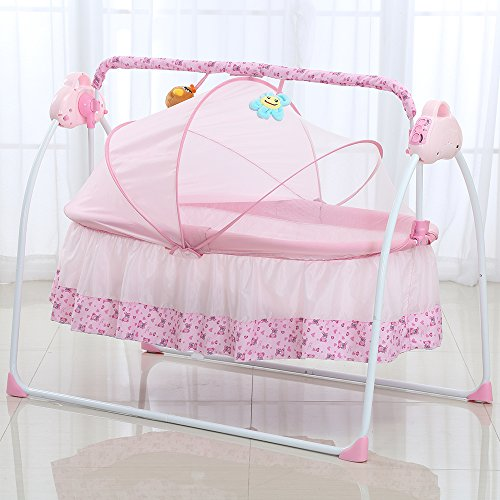 Decdeal Electric Baby Bassinet Cradle Swing Rocking Music