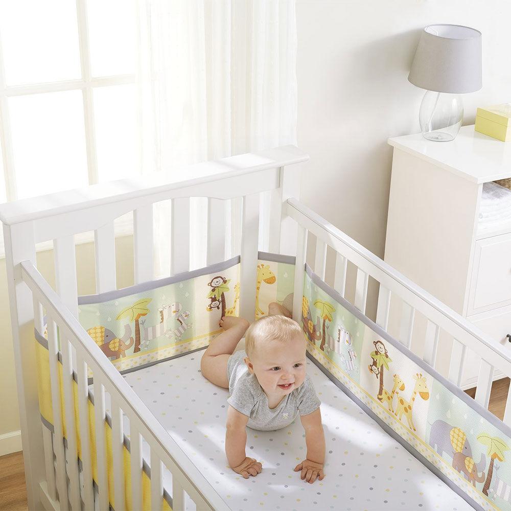 breathablebaby breathable crib liner grey safari
