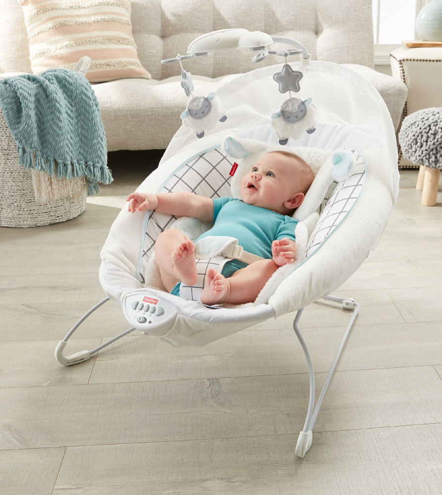 fisher price sweet little lamb deluxe bouncer