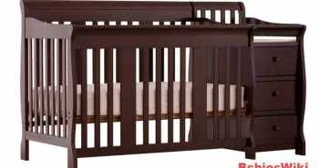 Stork Craft Portofino 4-in-1 Fixed Side Convertible Crib and Changer, Espresso