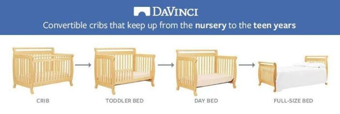 DaVinci Emily 4-in-1 Convertible Crib in Natural Finish