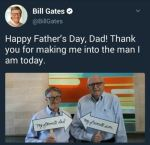 Cute Father's Day Photo of Bill Gates & His Dad