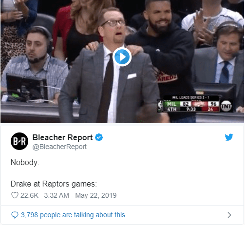 Drake Annoys some fans at the Bucks VS Raptor Game 4