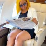 "Regina Daniels have ""Zero Worries"" as she chills in her hubby's private jet."