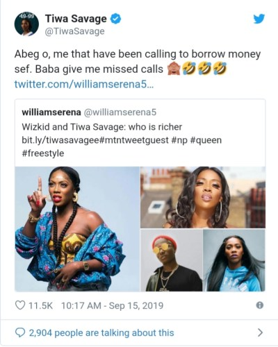 Tiwa Savage and Wizkid