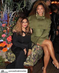 Beyonce and Tina Lawson