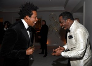 Jay Z and Kanye West reunite at Diddy's 50th Birthday