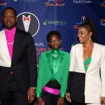 Dwyane Wade,Zaya and Gabrielle Union