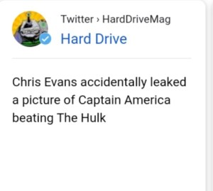 Chris Evans accidentally flashed His private area on Instagram
