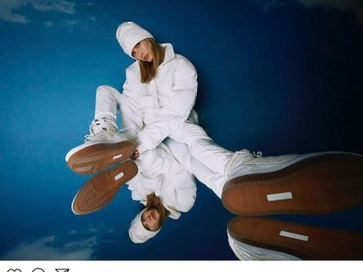 "Hailey Bieber models Beyonce's ""Icy Park"" collection"