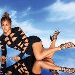 Jennifer Lopez stuns in black cut-out dress