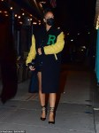 Rihanna dons Letterman jacket on a date night with A$AP Rocky