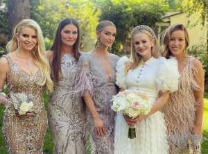 Jessica-Simpson and Ashlee Simpson bridemaid style
