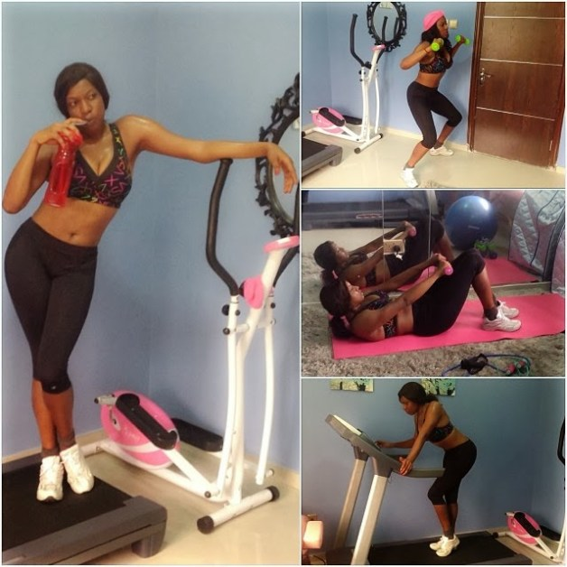 Photo : Trying To Shed the Vacation Weight? Chika Ike Sweat It Out In the Gym