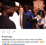 Don Jazzy's Funny Post In This Selfie Of Mark Zuckerberg