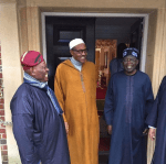 Tinubu & Akande Spotted With Pres.Buhari In London