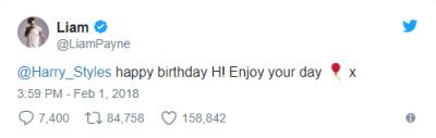 Niall Horan and Liam Payne Wish Harry Styles' Happy Birthday