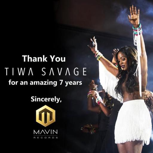 Tiwa Savage Signs new music deal