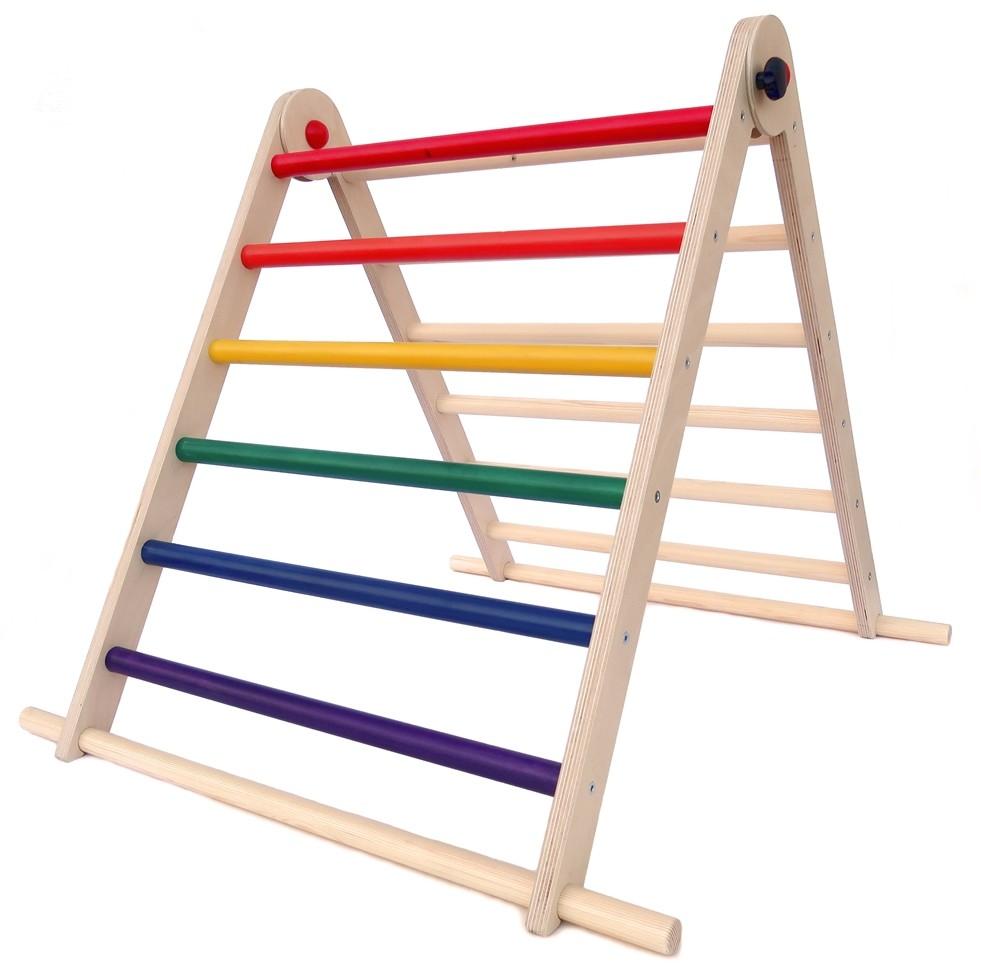Tri Climb Pikler Triangle Rainbow