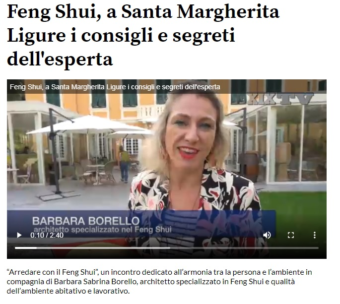 Video Intervista Feng Shui a S. Margherita Ligure