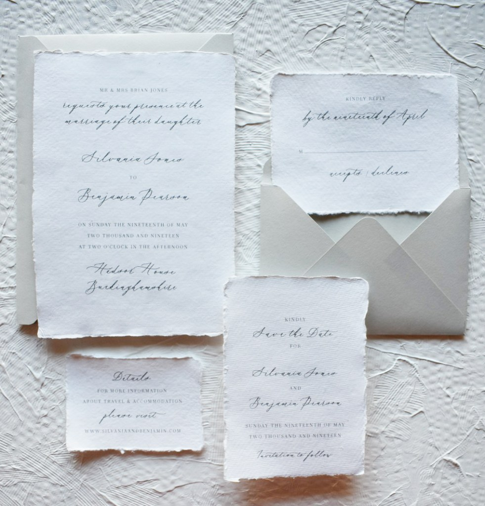 Serene Suite Wedding Collection Babooche Calligraphy