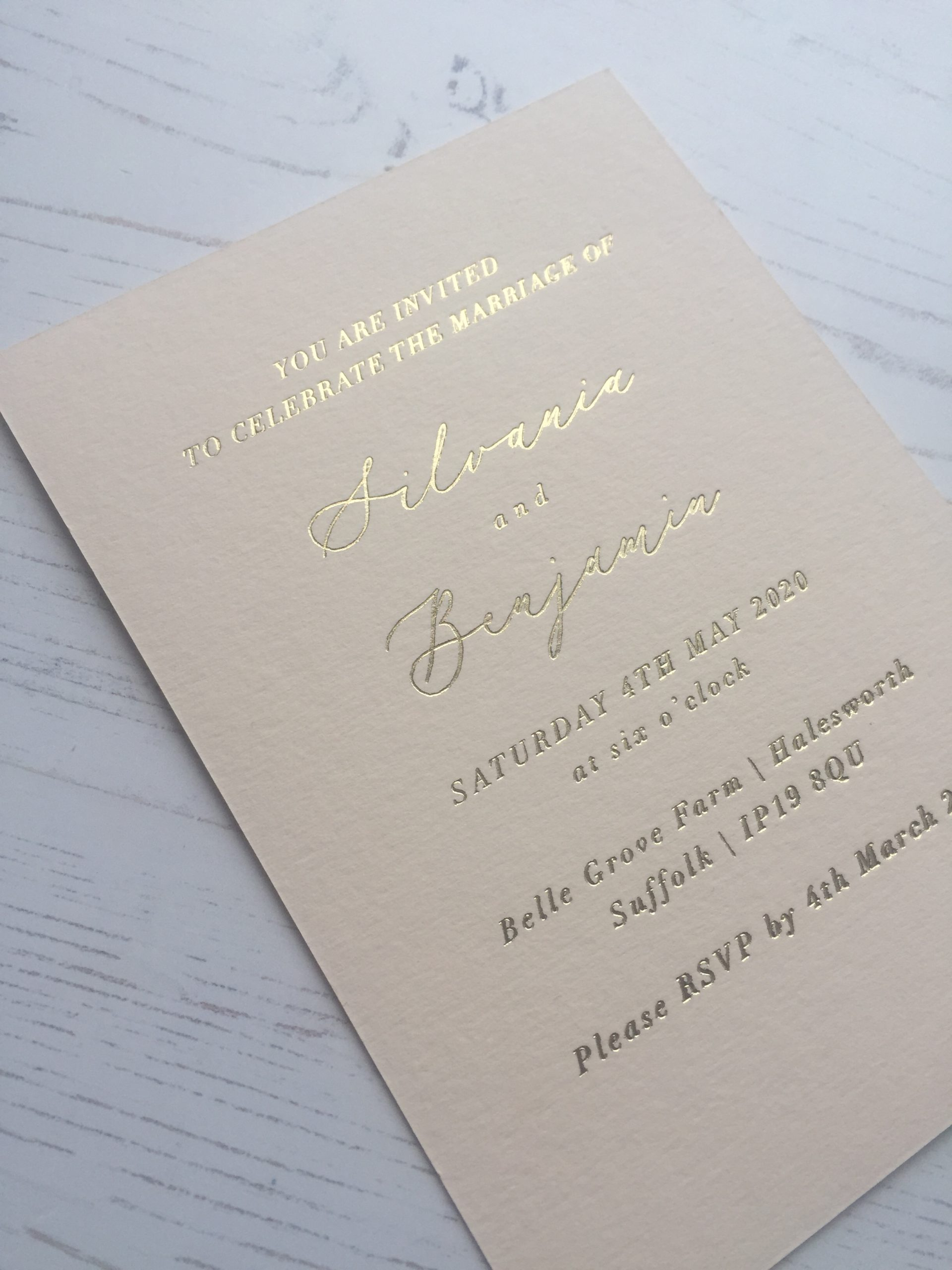 Hot Foil Printing on card