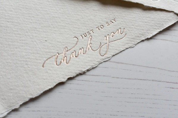 Rose Gold Foil Thank you cards