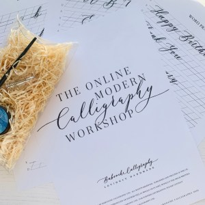 Online Modern Calligraphy Workshop