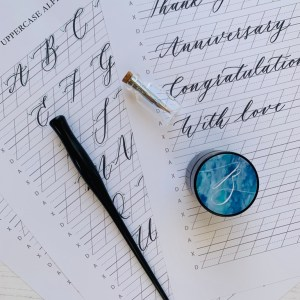 Online calligraphy workshop