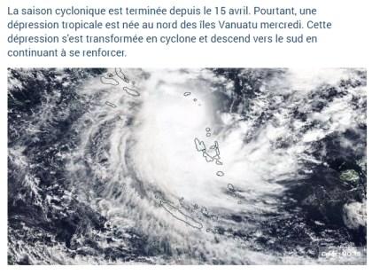 Cyclone Donna - Mai 2017
