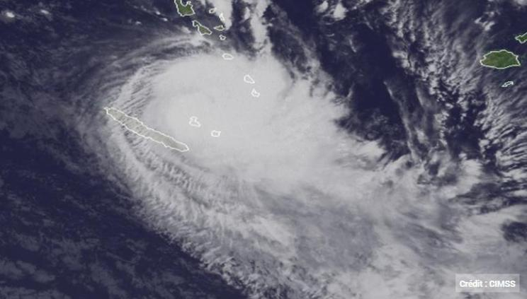 Cyclone Hola - Image satellite - 9 Mars 2018