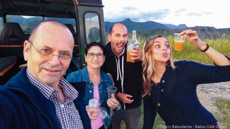 Punch maison pour Julia, Florian, Régine et moi ;-)