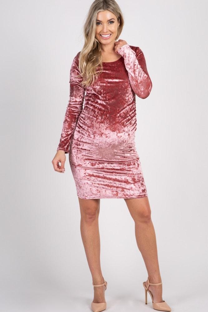 Pinkblush Velvet Dress