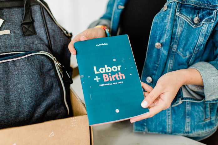 Wumblekin Labor + Birth booklet included in their box.