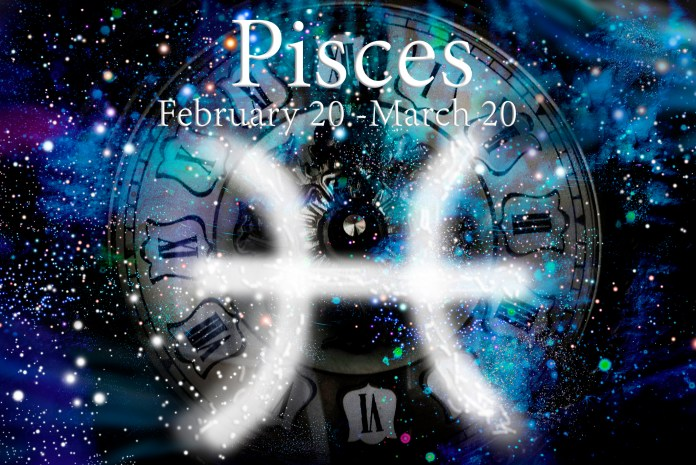 Winter astrological zodiac symbol of the Pisces