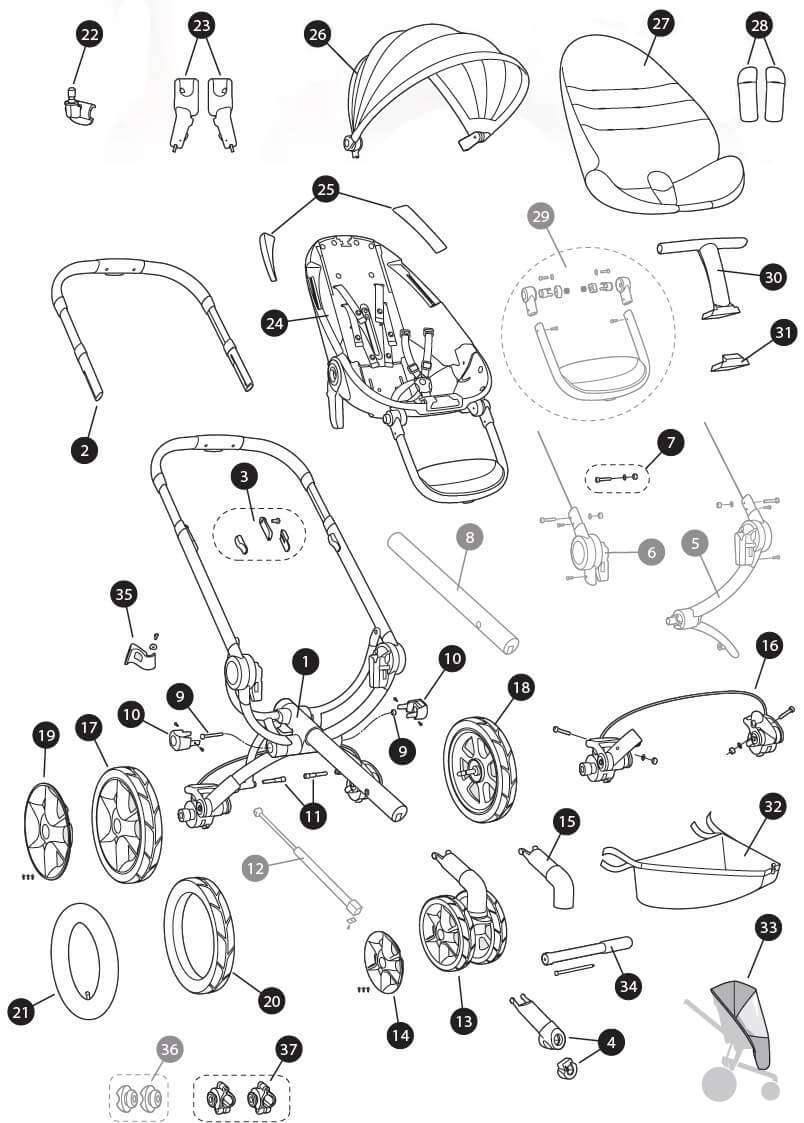 hight resolution of quinny moodd spare parts list