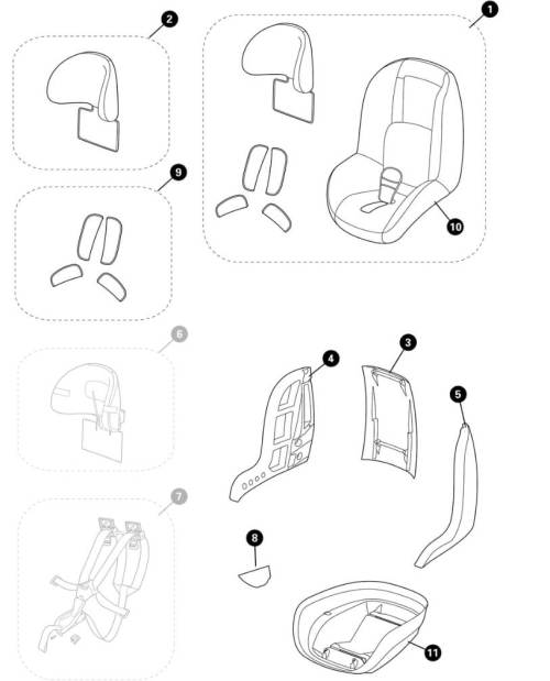small resolution of maxi cosi pearl spare part list