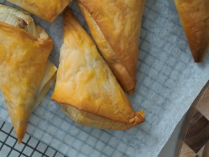Spinach & cheese triangles