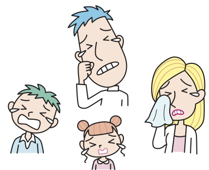 crying family