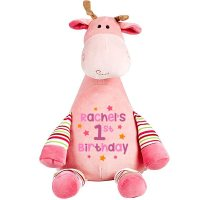 Pink Giraffe Soft Toy