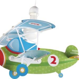 Hanglamp Vliegtuig Baby Plane Green