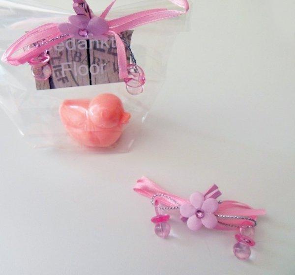 Knijper met mini speentjes roze
