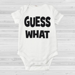 Guess what romper verrassings romper