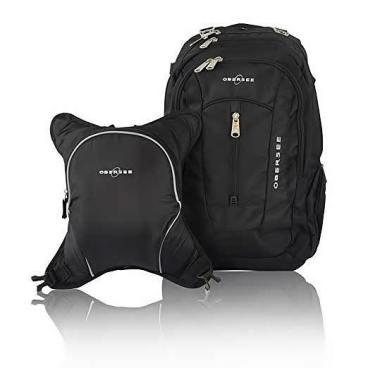 Obersee Bern Diaper Bag Backpack Cooler Black Black